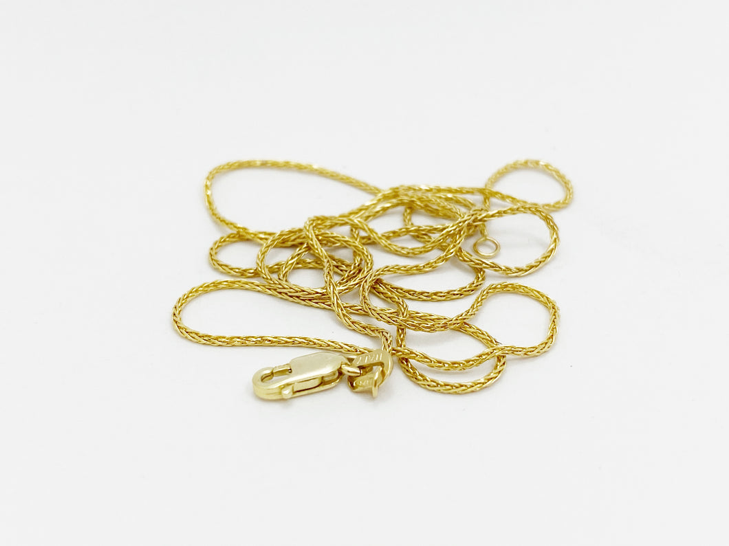 9ct Yellow Gold Italian Rope Chain, 45cm or 50cm Long