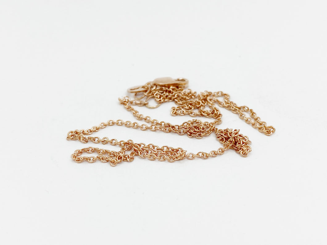 9ct Pink Gold Cable Chain, 40cm, 45cm or 50cm Long