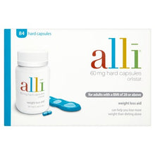 Load image into Gallery viewer, Alli Weight Loss Aid Orlistat Capsules 60mg 84s