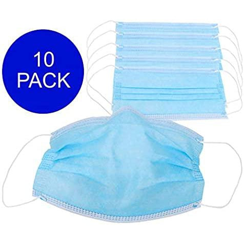 Disposable Type IIR Fluid Resistant 3-ply surgical mask, pack of 10