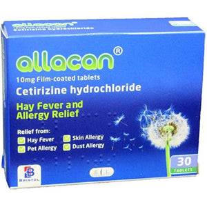 Allacan 10mg fillm coated tablets x30