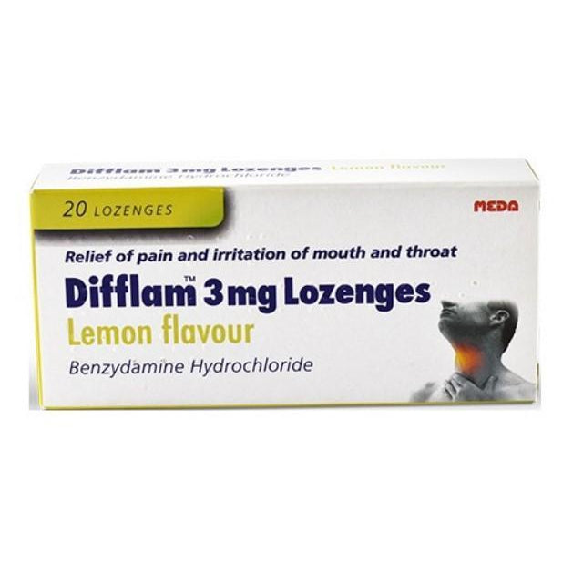 Difflam lozenges Lemon Flavour 3mg x20