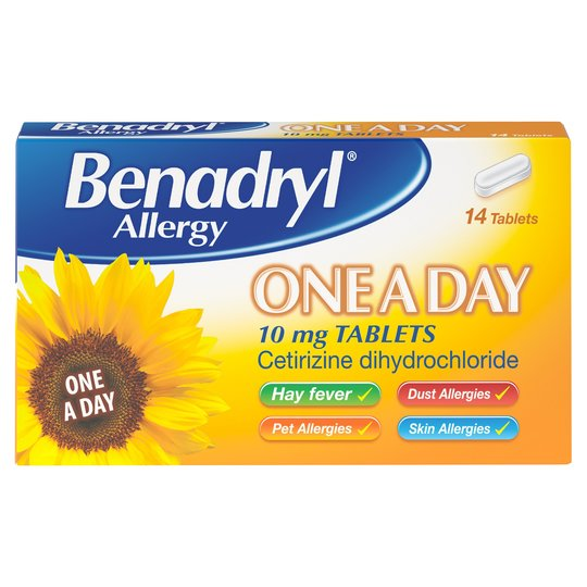 Benadryl Allergy one a day 10mg tabs x7