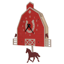 Load image into Gallery viewer, Horse barn pendulum clock