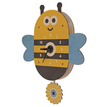 Load image into Gallery viewer, bee pendulum clock