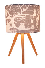 Load image into Gallery viewer, Treehouse grey fabric lamp