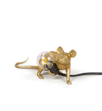 Load image into Gallery viewer, Seletti mouse table lamp Gold