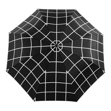 Load image into Gallery viewer, black grid compact umbrella