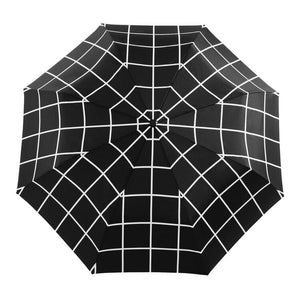 black grid compact umbrella