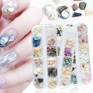 Nail Art Nail Art Natural Shell Piece Abalone Thick High Brightening Nail Art Jewelry Set Manicure Art Decoration