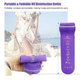Portable UV Sanitizer Foldable UV Sterilizer Bottle Rechargeable Ultraviolet Light Disinfection Box for Toothbrush Makeup Brush