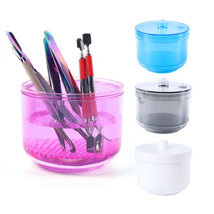 1pcs Nail Sterilizer Disinfection Storage Box Nail Drill Bits Cleaning Tool Accessories Acrylic Manicure Clean Nail Tools