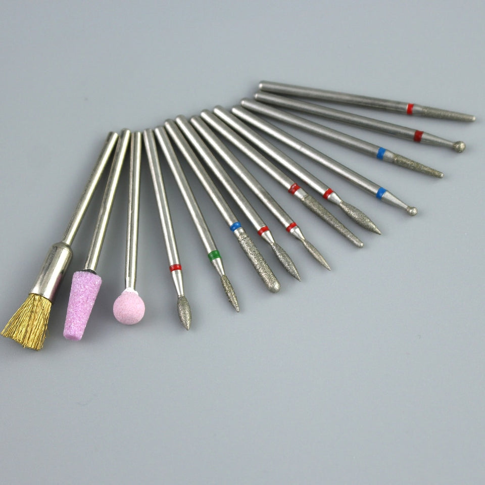 28 Types Diamond Nail Drill Milling Cutter For Manicure