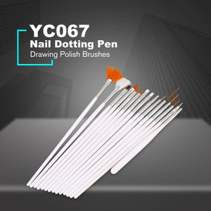 15PCS/set Manicure Tools Nail Brush Dotting Painting Drawing Pen Nail Art Brush Gel Polish Brushes Tools Gel Painting Pen