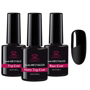 10ML Matte Top Coat and High Gloss Top Gel Coat Base Coat Set