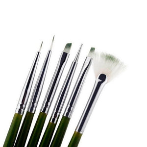 6 sets of Nail Art Brush Set