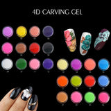 24 Colors Sculpture Nail Gel 3D Carved Plasticine UV Gel Varnish Creative DIY Nail Art Painting 3D Gel