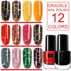 3.5ml Crackle Nail Polish Red Black Cracked Colorful Nail Art Varnish  12 Colors