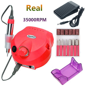 35000 RPM Electric Nail Drill Machine Manicure Nail Drill Bits Set