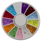 Nail Art 3Mm 12 Color Sharp Bottom Loose Diamond 6Cm Small Disc