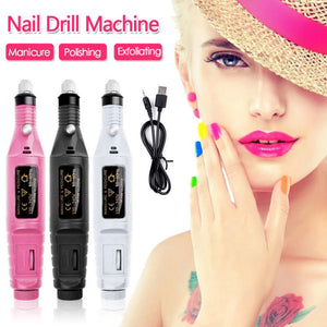 1Set Professional Electric Nail Drill Machine Kit Manicure Machine Nail Art Pen Pedicure Nail File Strong Nail Drill Tools
