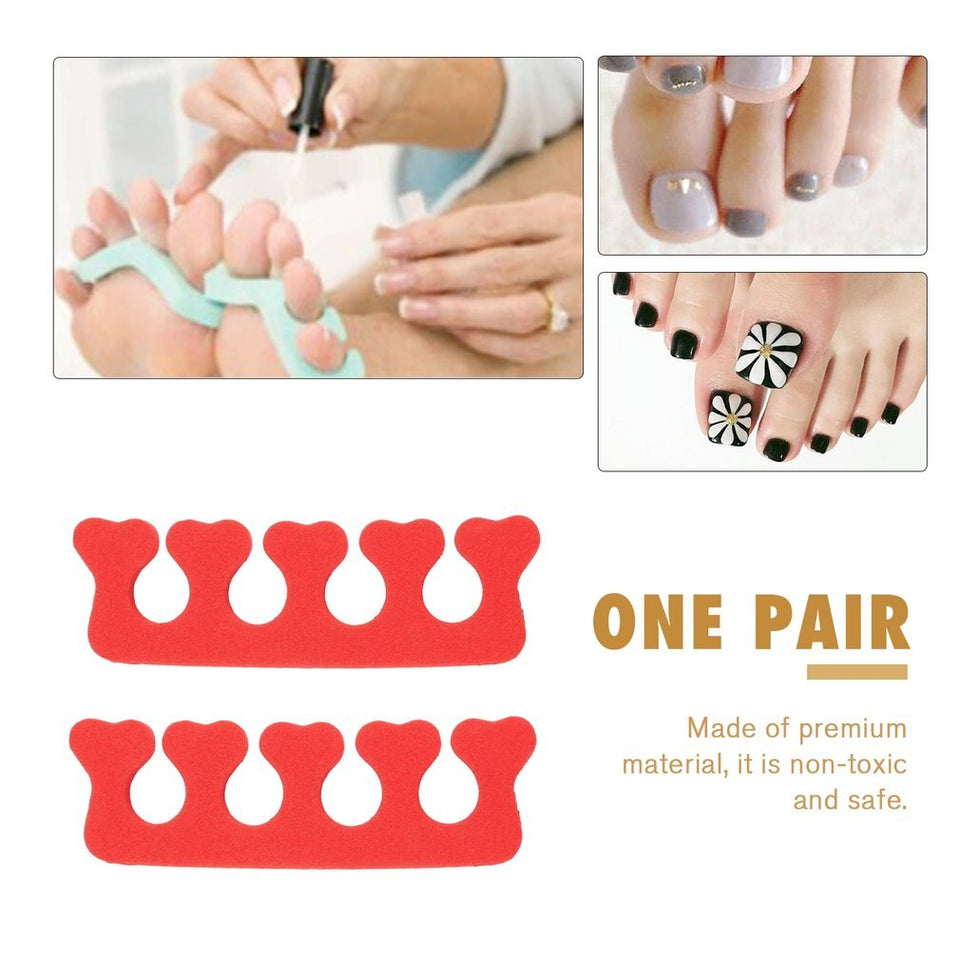 High Quality 3Pair EVA foam toe separator Soft foam Nail Tools Toe Finger Separator feet care braces & supports nails tools