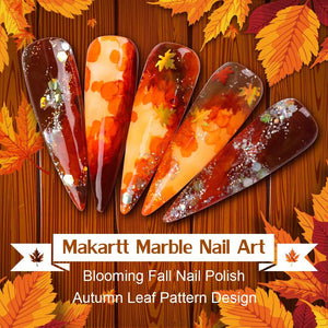 Watercolor Ink Blooming Nail Polish Magic Blossom Polish manicuring Kit Work with Transparent Marble Pattern Nail Vanish