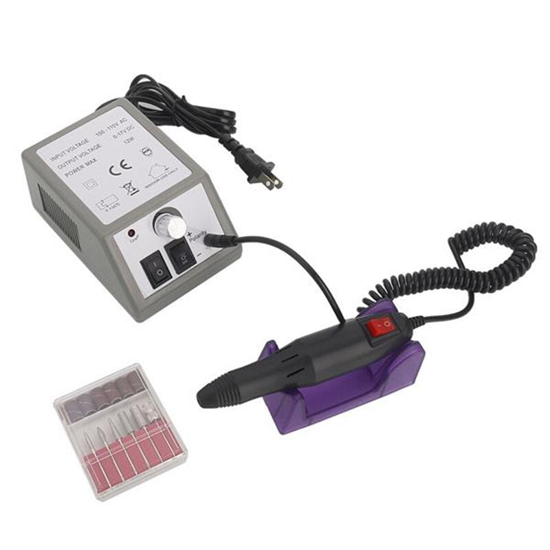 Professional Electric Nail Drill Milling Machine 20000RPM Nail Drill US Standard For Manicure Pedicure