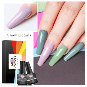 Nail Art Gel Polish Set Spring Summer Color Series UV Led