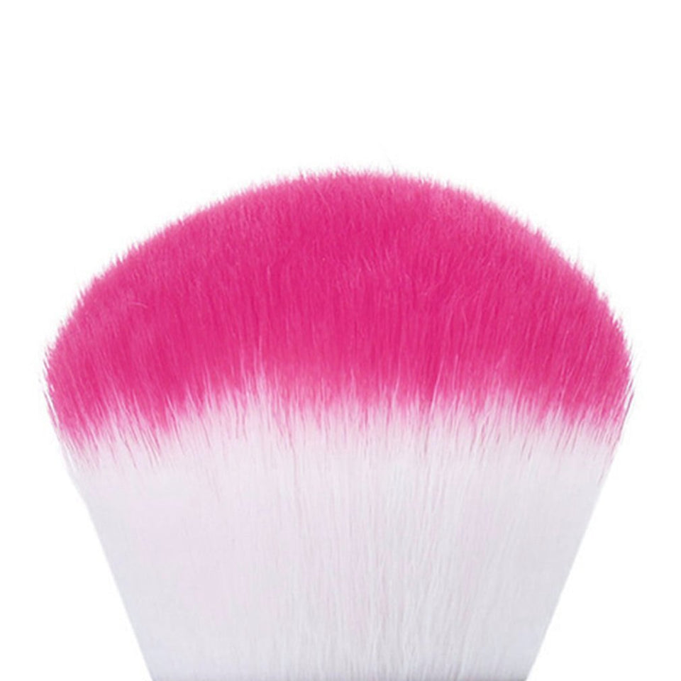 Soft Nail Dust Brush Manicure Tool Cosmetic Brush For Nail Art For Powder Nail Dust Brush With Short Diamond Handle