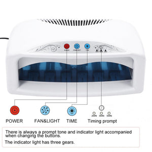 Nail Lamp 54W UV Nail Dryer Lamp Quick Drying Nail Gel  Polish with Fan & Timer Setting US 110V