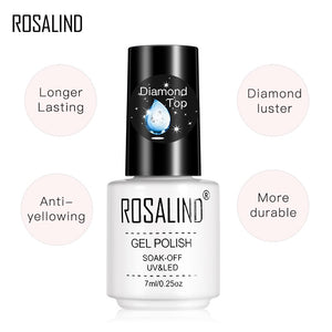 Gel Polish Diamond Top Coat UV Lamp Gel Soak Off Reinforce 7ml Long Lasting