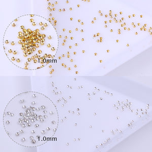 100Pcs 3D Nail Art Studs Rhinestones Mini Beads Gold Silver Decoration UV Gel DIY Nail Decoration Nail Art Accessories Tool