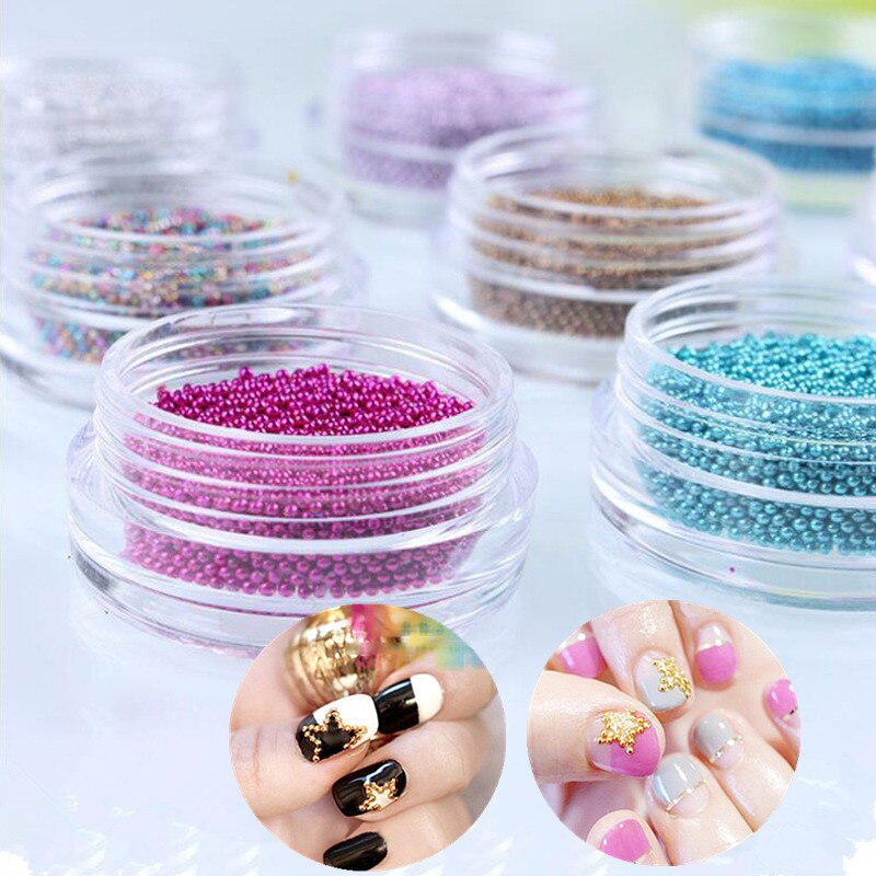 1 Box Sharp Nail Rhinestone Mini Beads Sharp Bottom Mixed Size Nail Accessories 3D Nail Art Decoration DIY Design Tool
