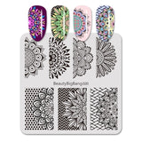 6cm Square Nail Art Stamping Plate Butterfly Wings Series Nail Art Accessories Template For Nails Polish Tool