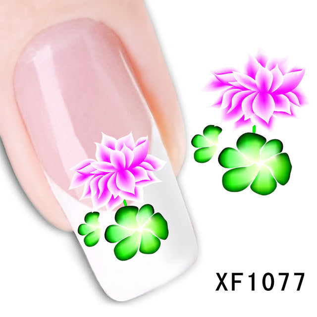 Nail sticker Colorful Decal Water Transfer Manicure Nail Art Stickers Decoration