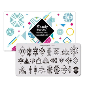 Star Moon Design Stamp For Nails Accessoires Starry Sky Stencil Mold Nail Stamping Plates Nail Art Tools