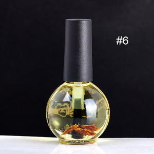 15ml Dried Flowers Nail Softener Nutritional Oil Cuticle Revitalizer