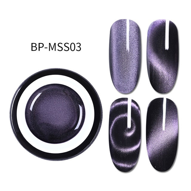 5D Cat Eye Nail Gel 5ml Magnetic Soak Off UV Gel Lacquers sparkly Sky Jade Effect Varnish Black Base Needed
