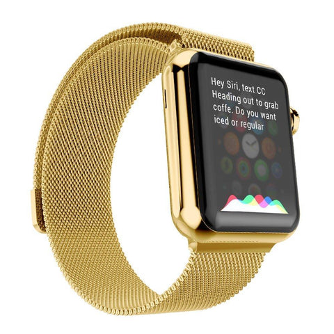 Milanese Strap for Apple Watch (42mm/44mm) OR (38mm/40mm) - Gold