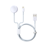 Devia - 1m (2.1A) USB to Magnetic Cable for Apple Watch & Lightning Cable - White