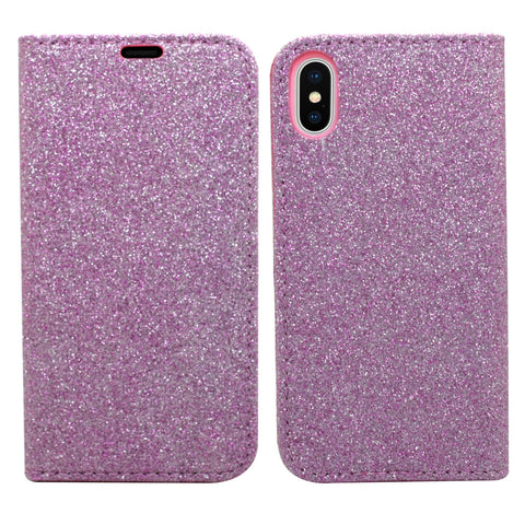 Glitter Wallet for iPhone Purple