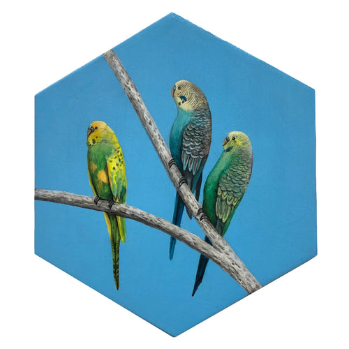 painted bird wall art