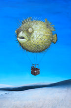 Load image into Gallery viewer, Iteration 48: Pufferfish Hot Air Balloon Ride over White Sands