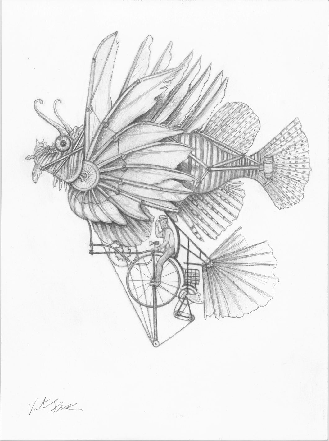 Lionfish Bicycle Flying Machine