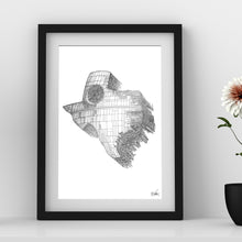 Load image into Gallery viewer, Death Star State Foil Print - Point 506