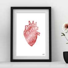 Load image into Gallery viewer, Tessellated Heart Foil Print - Point 506