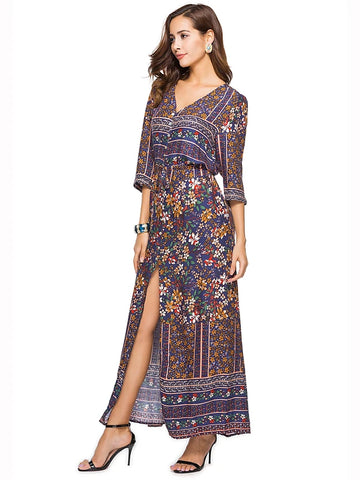 Women's Boho Plus Size Daily Beach Boho Maxi Loose Swing Dress
