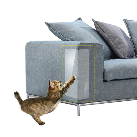 2pcs/set PVC Transparent Cat Scratch Stickers Grab Sofa Furniture Protecting, pet supplies, 2pcs/set PVC Transparent Cat Scratch Stickers Grab Sofa Furniture Protecting, cat scratch stickers,