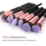 BESTOPE Makeup Brushes 16 PCs Makeup Brush Set Premium Synthetic Foundation Brush Blending Face Powder Blush Concealers Eye Shadows Make Up Brushes Kit (Rose Golden), , Beauty, BESTOPE, Found